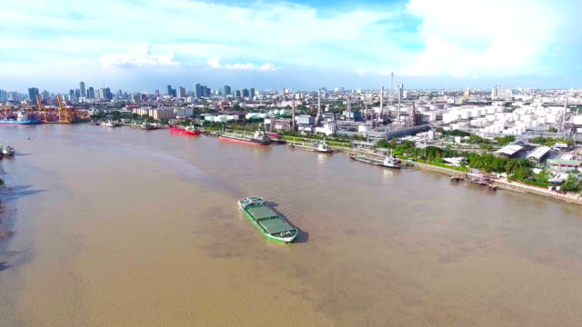 Aerial View of Oil Refinery near River, Bangkok, Thailand. Flying Around Chemical Plant with Complex Pipe in the Morning Aerial View of Oil Refinery near River, Bangkok, Thailand. Flying Around Chemical Plant with Complex Pipe in the Morning gas pipe stock videos & royalty-free footage
