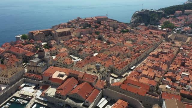 Aerial View of Old Town in Dubrovnik, Croatia
