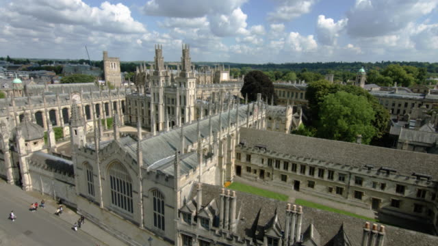 Aerial view of Oxford University featuring All Souls College video