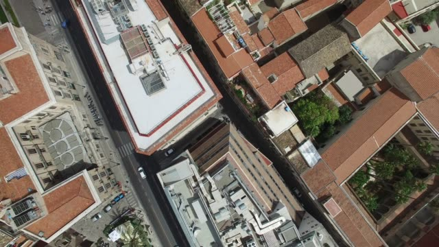 aerial view of palermo, italy - palermo città video stock e b–roll
