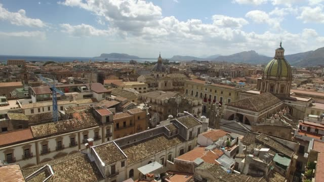 Aerial View of Palermo, Italy video