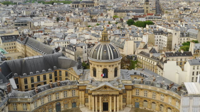 Aerial view of Paris and University of France