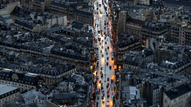 aerial view of paris in old town area - french architecture stock videos & royalty-free footage