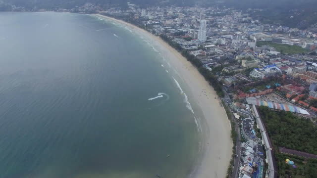Aerial view of Patong beach in Phuket Thailand, drone footage. Aerial view of Patong beach in Phuket Thailand, drone footage. pattaya stock videos & royalty-free footage