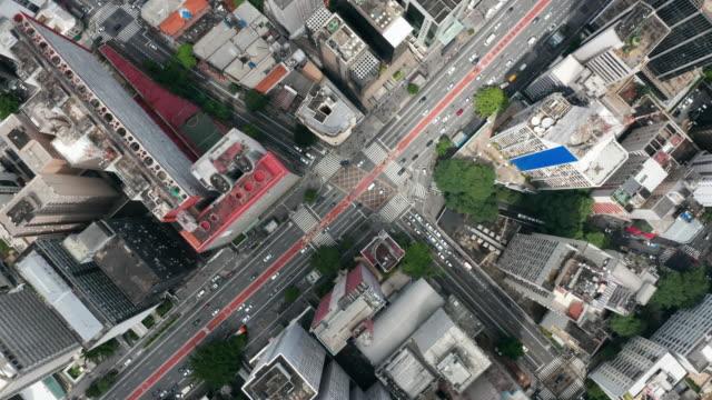 flygfoto över paulista avenue, sao paulo, brasilien - brasilien bildbanksvideor och videomaterial från bakom kulisserna