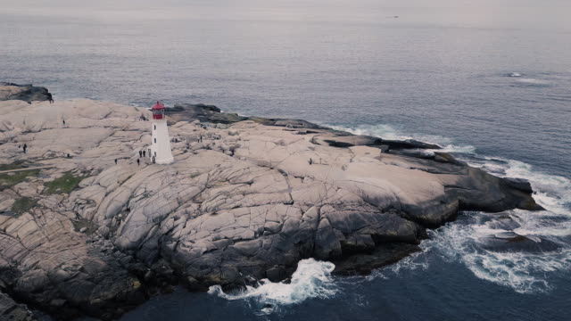 Aerial View of Peggy's Cove Lighthouse