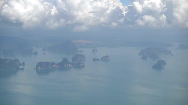 Aerial view of phuket island video