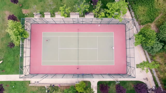 Aerial View of Playing Field video