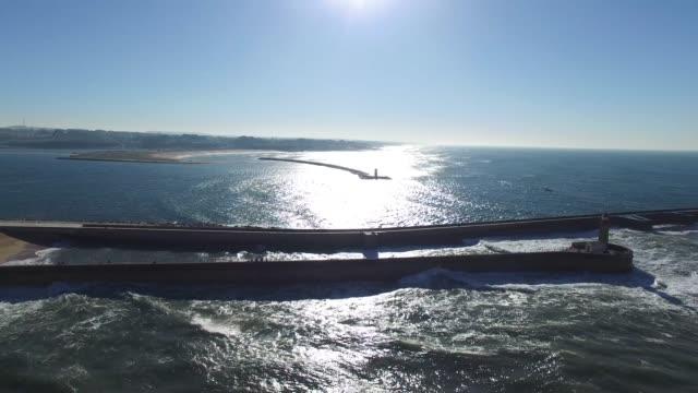 vídeos de stock e filmes b-roll de aerial view of porto, portugal - rain clouds porto portugal