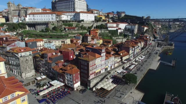 Aerial View of Porto, Portugal video