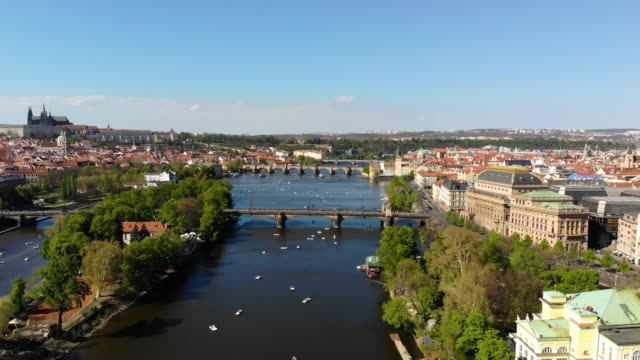 Aerial view of Prague Aerial view of Prague european culture stock videos & royalty-free footage