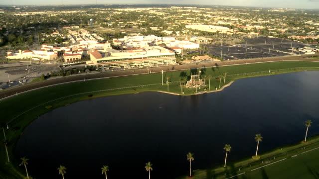 aerial view of race tracks - racehorse track bildbanksvideor och videomaterial från bakom kulisserna