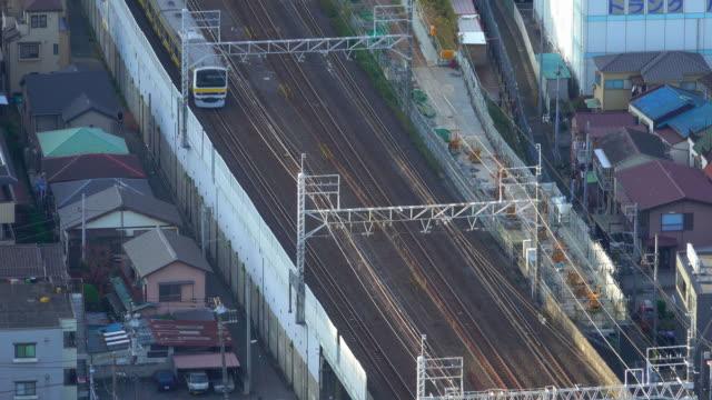 鉄道の空撮 - 列車点の映像素材/bロール