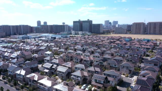 住宅地の上空からの眺め - 地域点の映像素材/bロール