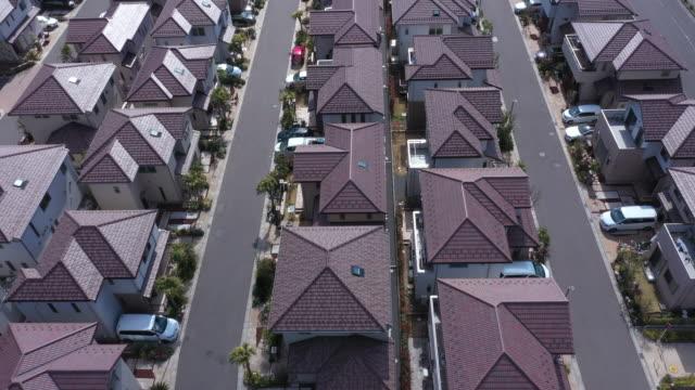 flygvy över bostads område - yttertak bildbanksvideor och videomaterial från bakom kulisserna