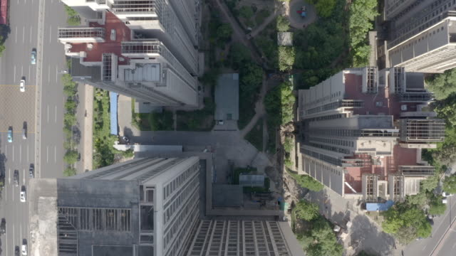 Aerial view of residential building video