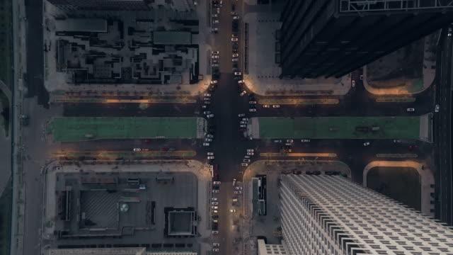 Aerial view of residential buildings video