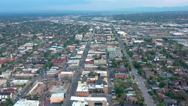 Aerial view of residential district in Denver, Colorado