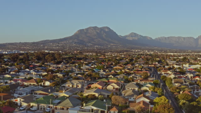 Aerial view of residential district of The Strand, Western Cape, South Africa Aerial view of residential district of The Strand, Western Cape, South Africa western cape province stock videos & royalty-free footage