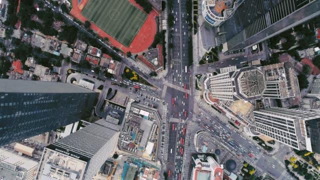 Aerial view of road cross Shot in Nanjing Rd, Tianjin shanghai stock videos & royalty-free footage