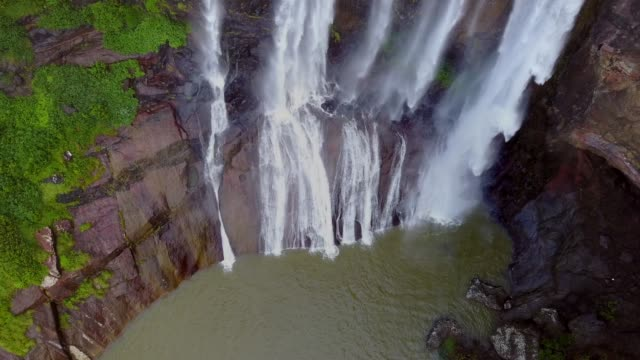 aerial view of rochester falls in mauritius. - isole mauritius video stock e b–roll