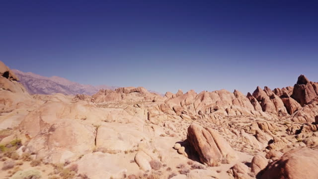 Aerial View of Rock Formations at Whitney Portal