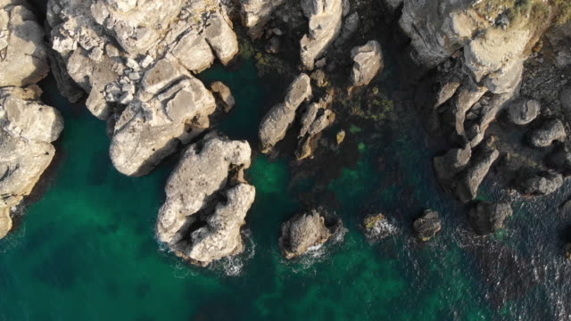 Aerial View of Rocky Black Sea Coast
