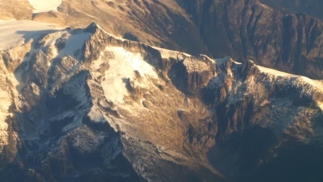 Aerial view of Rocky Mountains video