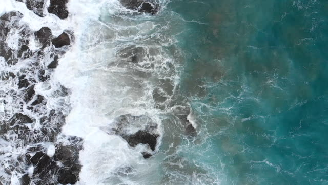 Aerial View of Rocky Seaside