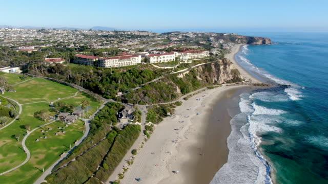 Aerial view of Salt Creek and Monarch beach coastline. California. USA