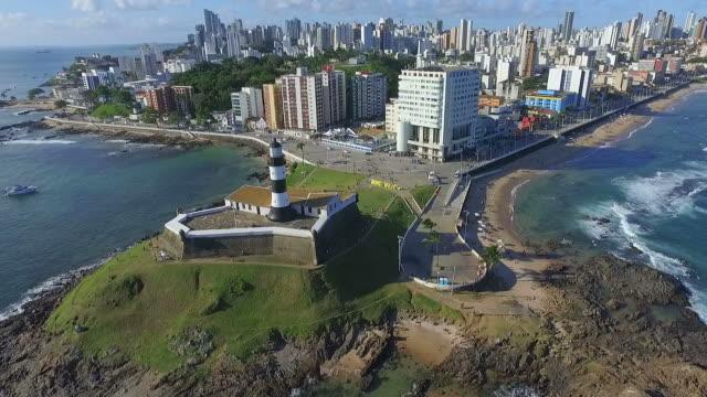 vídeos y material grabado en eventos de stock de vista aérea del salvador, bahia, brasil - bahía