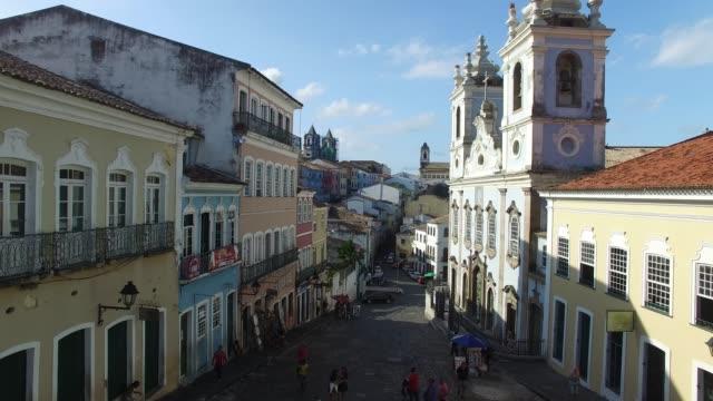 vídeos y material grabado en eventos de stock de vista aérea de la ciudad de salvador, brasil - bahía