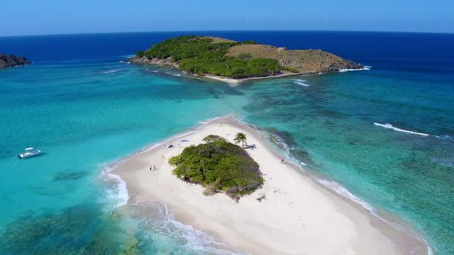 Aerial view of Sandy Spit, British Virgin Islands video