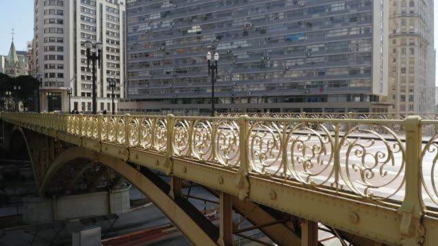 vídeos y material grabado en eventos de stock de vista aérea del viaducto de santa efigenia, sao paulo, brasil - hispanoamérica