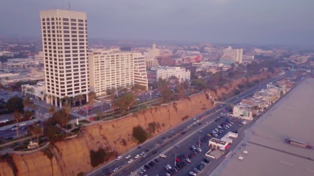Aerial View of Santa Monica, California video