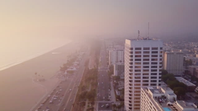 Aerial View of Santa Monica, California video