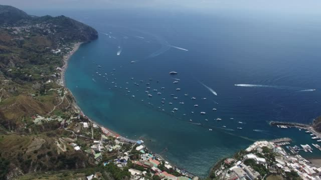 Aerial view of Sant'Angelo in Ischia island in Italy video