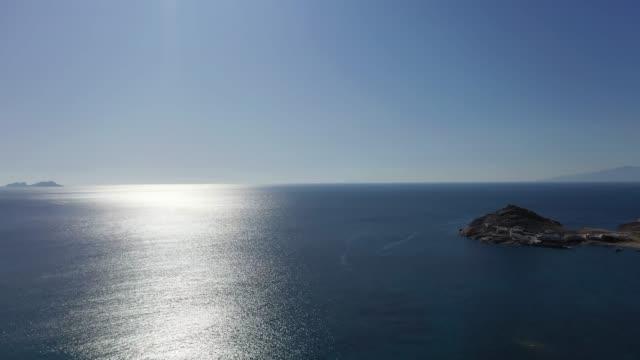 aerial view of santorini island. the traditional architecture of the mediterranean. - morze egejskie filmów i materiałów b-roll