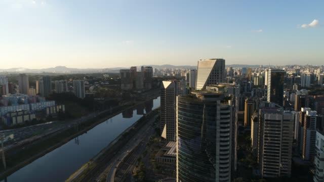 Aerial View of Sao Paulo, Brazil Aerial View of Sao Paulo, Brazil marginal tiete highway stock videos & royalty-free footage