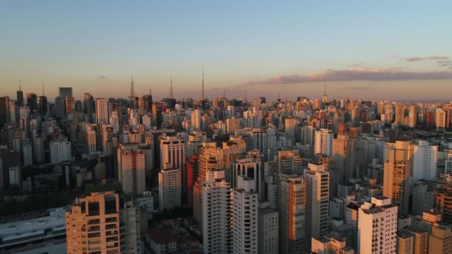 Aerial View of Sao Paulo city, Brazil Aerial View of Sao Paulo city, Brazil brazil stock videos & royalty-free footage