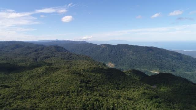 Aerial View of Sao Paulo Coastline - Litoral Norte, Brazil video