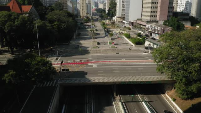 vídeos y material grabado en eventos de stock de vista aérea del centro de sao paulo, brasil - avenida