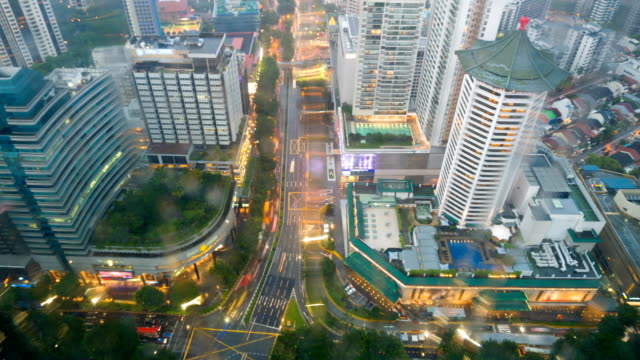 Aerial View of Scott Road, Orchard Road of Singapore video