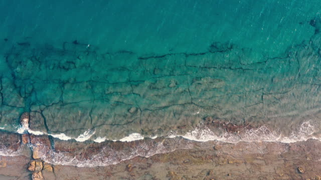 Aerial view of sea and beach
