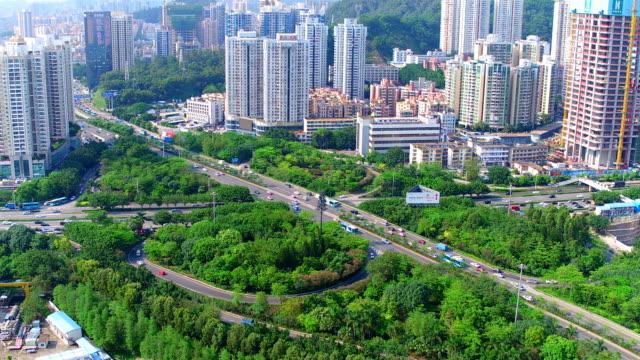 Aerial view of Shen Zhen City video