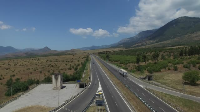Aerial View of Sicily Highway in Italy video