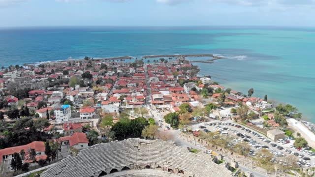 Aerial view of Side in Antalya, Turkey video
