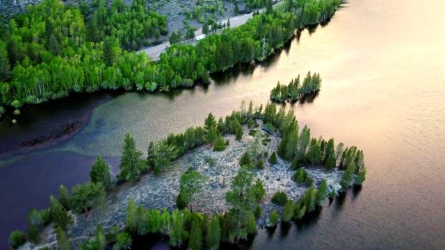 aerial view of Silver Lake - California Sierra Nevada
