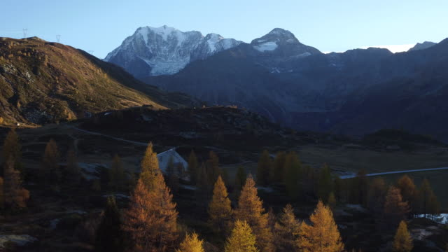 Aerial view of Simplon Pass video