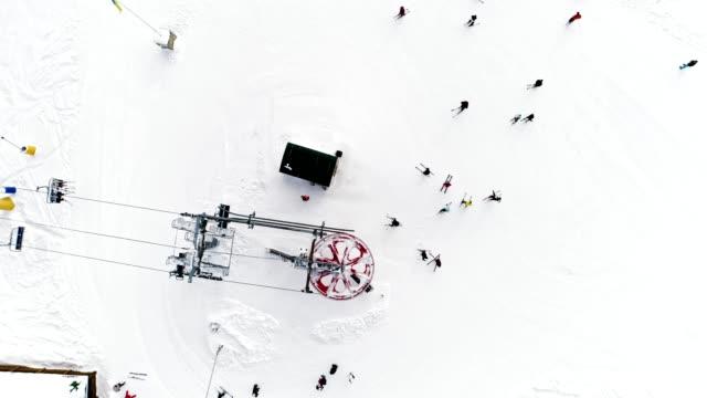 Aerial view of ski resort video